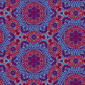 red blue ethnical african texture