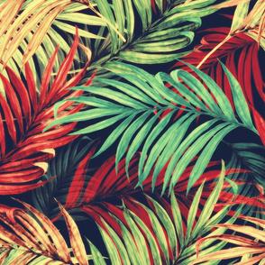 Palm Leaves vintage red