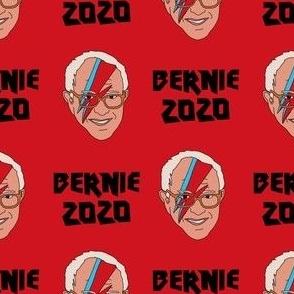 Bernie 2020 rock - Bowie Bernie, Democrats, USA, political fabric, Democrats fabric - red