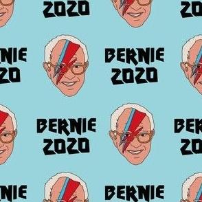 Bernie 2020 rock - Bowie Bernie, Democrats, USA, political fabric, Democrats fabric - blue