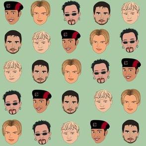 Boy band fabric, Kevin, AJ, Brian, Bowie, nick pop music - mint