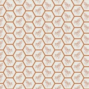 Honey Bee and Honeycomb