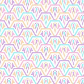 Hexagonal Scales Pastel