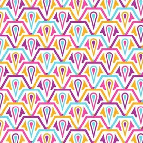 Hexagonal Scales Vibrant