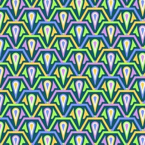 Hexagonal Scales Green