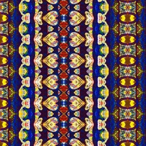 Blue Red and Yellow Repeating Shape Pattern