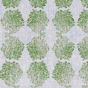 India Green Paisley Block