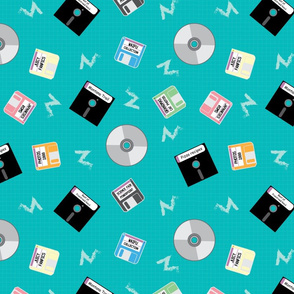 90's floppy Disk 12X12--01