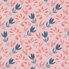 The vintage stylized flowers