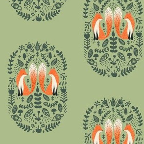 Folk Fox In Evergreen