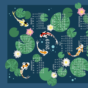 Koi pond calendar 2019