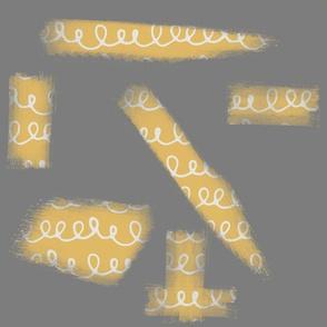 Yellow Gray Brushed Pattern