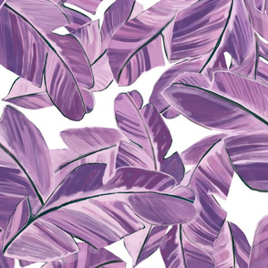 Beach side palms in purple