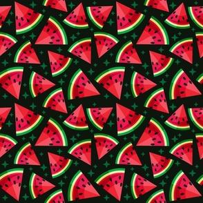 watermelon on black