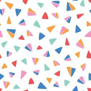 flying colorful paper airplane triangles