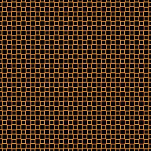 Geometric Pattern: Rounded Weave: Orange/Black