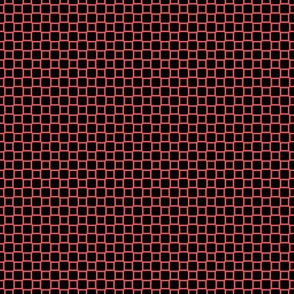 Geometric Pattern: Rounded Weave: Red/Black