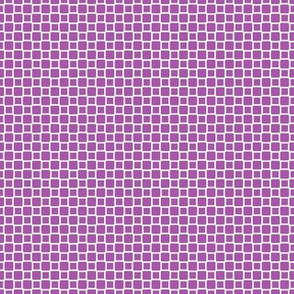 Geometric Pattern: Rounded Weave: White/Purple