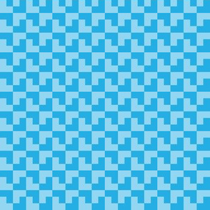 Geometric Pattern: Tetris: Light Blue