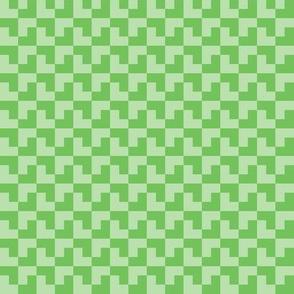 Geometric Pattern: Tetris: Light Green