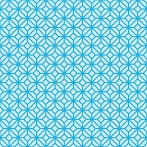Geometric Pattern: Diamond Tile: Light Blue