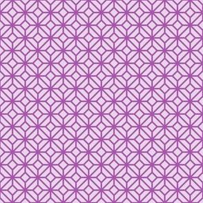 Geometric Pattern: Diamond Tile: Light Purple