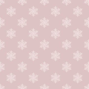 taupe simple snowflakes