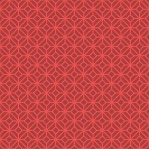 Geometric Pattern: Diamond Tile: Dark Red
