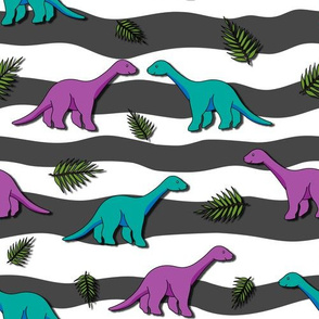 Long Neck Dinos purple and blue - 1100251s
