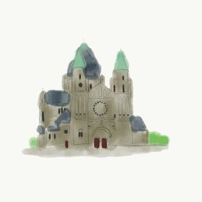 Cathedral in watercolours