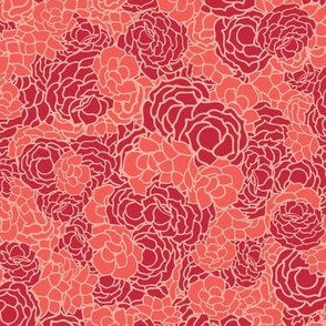 Red floral rose bouquet texture