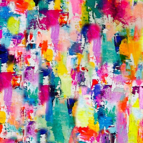 Rainbow Painted Abstract ((LARGE scale))