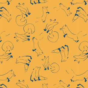 fox lines seamless repeat pattern design