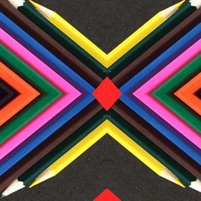 Pencil art pattern