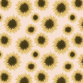 summer sunflower on dusty pink