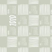 2020 Calendar, Sunday / Zen Garden