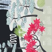 2020 Calendar, Sunday / Japanese Garden