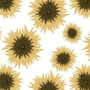 summer sunflower on milk