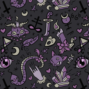 Large Cute Occult in Dark