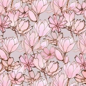 Magnolias  Light Grayish Pink