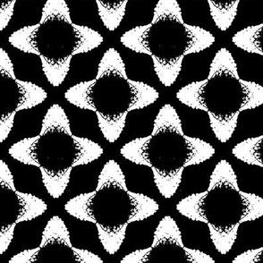 Flower bells - black & white