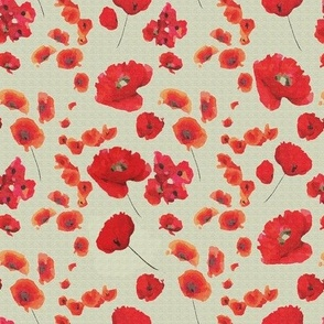 very small pbn poppies