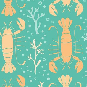 Lobster reef (yellow on turquoise)