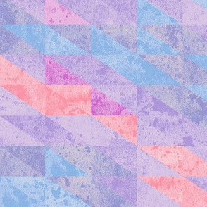Peach & Purple Triangles