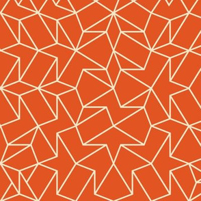 Angled Weave - Orange Cream