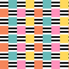 Liquorice Allsorts ribbon weave - 1950s  colors