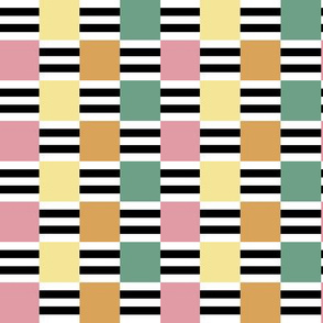 Liquorice Allsorts ribbon weave - spring colors