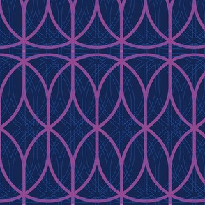 curved abstract navy-purple