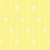 Pastel Yellow Geometric Floral Pattern