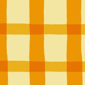 Yellow Orange Jagged Plaid